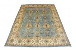 Ogromny wzorzysty dywan Ziegler 100% wełna kamienowana ręcznie tkany 275x361cm