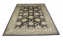 Dywan Ziegler Farahan 100% wełna kamienowana ręcznie tkany luksusowy 284x366 klasyczny ciemny