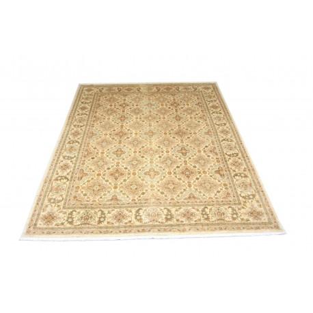 Dywan Ziegler Farahan 100% wełna kamienowana ręcznie tkany luksusowy 246x317 klasyczny jasny