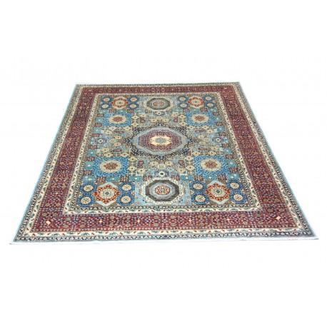 Dywan Ziegler Farahan Klassik 100% wełna kamienowana ręcznie tkany luksusowy 250x300cm klasyczny niebieski