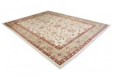 Dywan Ziegler Farahan 100% wełna kamienowana ręcznie tkany luksusowy 230x350cm klasyczny beżowy