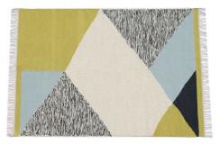 W kolorowy kilim Durry 100% wełniany dywan płasko tkany 170x240cm dwustronny Indie dwupoziomowy