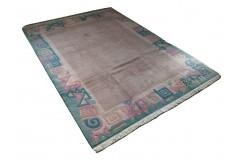 Salonowy nowoczesny dywan ręcznie tkany 250x350cm oryginalny Nepal Atelier malinowy