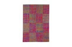 Ekologiczny designerski dywan z jedwabiu z recyklingu The Rug Republic Mysteryland 160x230 żakardowy patchwork