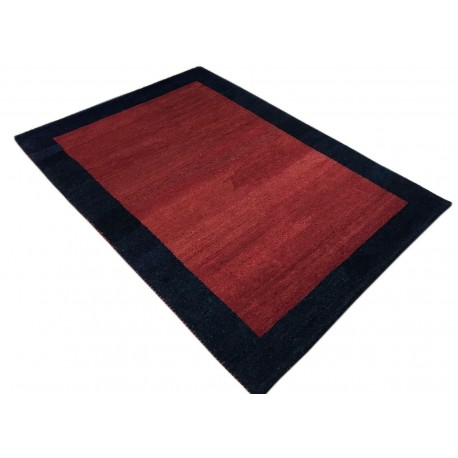 Czerwony delikatnie zdobiony dywan gabbeh 140x200cm wełna argentyńska klasyczny