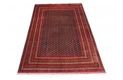 Dywan Afganistan Khuwaje Turkmeński geometryczny Tekke oryginalny 100% wełniany najwyższa jakość 195x295cm