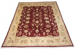 Dywan Ziegler Farahan 100% wełna kamienowana ręcznie tkany luksusowy 230x300cm klasyczny czerwony