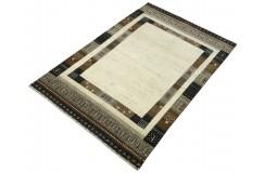 Ekskluzywny dywan Gabbeh Loribaft Patchowrk Indie różne rozmiary 100% wełniany beżowy, brązowy
