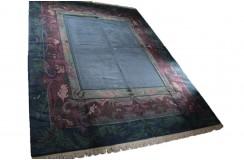 Salonowy nowoczesny dywan ręcznie tkany 300X400cm oryginalny Nepal EXCLUSIVE pastelowy niebieski