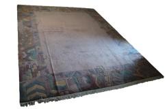 Salonowy nowoczesny dywan ręcznie tkany 300X400cm oryginalny Nepal TYBET pastelowy różowy