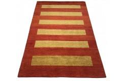 Gustowny kolorowy nowoczesny dywan indyjski Gabbeh 100% wełna 120x180cm deseń