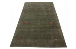 Zielony nowoczesny dywan indyjski Gabbeh 100% wełna 120x180cm tradycyjny