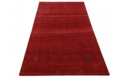 Czerwony nowoczesny dywan indyjski Gabbeh 100% wełna 120x180cm tradycyjny
