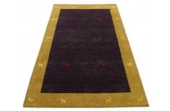 Niebiesko żółty nowoczesny dywan indyjski Gabbeh 100% wełna 120x180cm tradycyjny