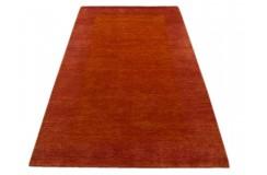Pomarańczowo czerwony nowoczesny dywan indyjski Gabbeh 100% wełna 120x180cm tradycyjny