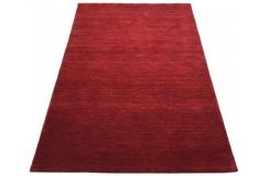 Gładki 100% wełniany dywan Gabbeh Handloom malinowy 120x180cm bez wzorów