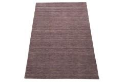 Gładki 100% wełniany dywan Gabbeh Handloom wrzosowy 120x180cm bez wzorów