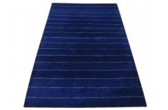 Kolorowy nowoczesny dywan indyjski Gabbeh 100% wełna 120x180cm w pasy niebieski