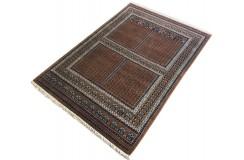 Wełniany ręcznie tkany dywan Indo Keshan 130x190cm orientalny brązowy