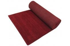 Gładki 100% wełniany dywan Gabbeh Handloom czerwony chodnik 70x300cm bez wzorów