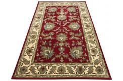Dywan Persian 100% wełniany 155x245cm z Indii czerwony tradycyjny