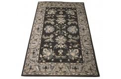 Dywan Persian 100% wełniany 155x245cm z Indii czarny tradycyjny