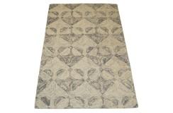 Kolorowy brązowy dywan RUG COLLECTION do salonu nowoczesny design 100% wełna 150x240cm Indie