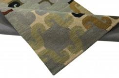 Stonowany gruby dywan RUG COLLECTION do salonu nowoczesny design 100% wełna 150x240cm Indie