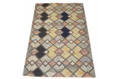 Kolorowy gruby dywan RUG COLLECTION do salonu nowoczesny design 100% wełna 150x240cm Indie