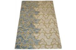 Kolorowy piękny dywan RUG COLLECTION do salonu nowoczesny design 100% wełna 150x240cm Indie