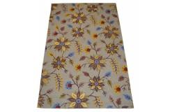 Kolorowy kwiatowy dywan RUG COLLECTION do salonu nowoczesny design 100% wełna 150x240cm Indie promocja