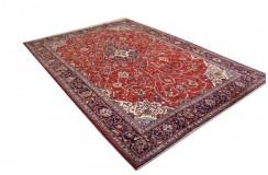 Czerwony oryginalny dywan Kashan (Keszan) z Iranu wełna 216x303cm perski