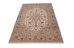Beżowy oryginalny dywan Kashan (Keszan) z Iranu wełna 200x300cm perski