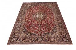 Klasyczny oryginalny dywan Kashan (Keszan) z Iranu wełna 215x318cm perski