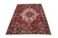 Perski wełniany recznie tkany dywan Hamadan z kwiatowymi ornamentami ok 200x300cm