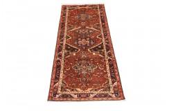 Perski wełniany recznie tkany dywan Hamadan z kwiatowymi ornamentami ok 100x300cm