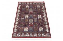 Wzorzysty dywan w kwatery Indo Baktjar drobno, gęsto ręcznie tkany 100% wełna 120x180cm