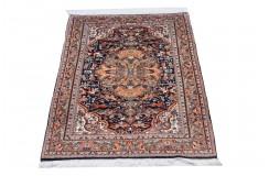 Kolorowy bogaty dywan Indo Keszan 100% wełna ok 140x200cm