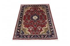 Klasyczny kwiatowy dywan Indo Keszan 100% wełna ok 140x200cm