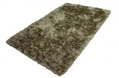 Ekskluzywny ręcznie gęsto tkany włochacz Brinker Carpets Alaska złoto-zielony 160x230cm masywny