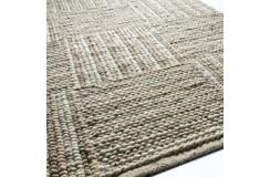 LUKSUSOWY niezwykły dywan BRINKER FEEL GOOD CARPETS CORBIN Beige wełna filcowana naturalny 170x230cm