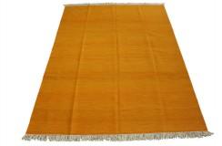 Pomarańczowy kilim perski z deseniem 100% wełniany dywan płasko tkany 180x240cm dwustronny Iran