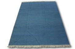 Niebieski kilim perski z deseniem 100% wełniany dywan płasko tkany 180x240cm dwustronny Iran