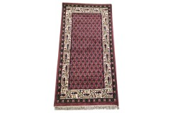 Wełniany ręcznie tkany dywan Mir z Indii 90x160cm orientalny czerwony