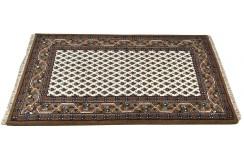 Wełniany ręcznie tkany dywan Mir z Indii 90x160cm orientalny beż brąz