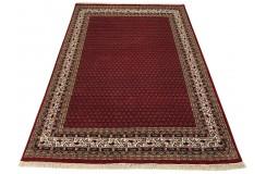 Wełniany ręcznie tkany dywan Mir Royal z Indii 170x240cm orientalny czerwony