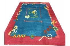 Salonowy nowoczesny dywan ręcznie tkany 250x350cm kolorowy Nepal Exclusive nowozelandzka wełna owcza