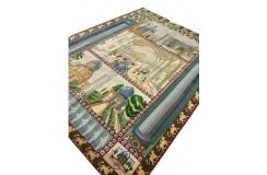 Dywan Tabriz 50Raj wełna kork+jedwab najwyższej jakości dywan z Iranu obrazowy