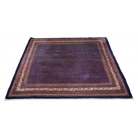 Gęsto tkany granatowy dywan Mir z Iranu 266x267cm 100% wełna oryginalny perski kwadratowy