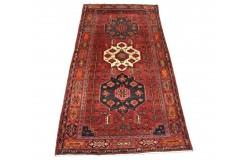 Perski wełniany recznie tkany dywan Heriz (Hamadan) z kwiatowymi ornamentami ok 160x320cm